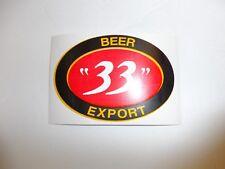 b4714 US Vietnam Novelty Sticker Beer 33 Export IR4C