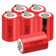 1.2V 2200mAh & Tab rosso NiCd 4/5 SubC Sub C Ni-Cd batteria ricaricabile