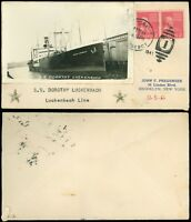 FEB 8 1941 CRISTOBAL C. Z. PAQUEBOT Cds, S.S. DOROTHY LUCKENBACH PHOTO CACHET!