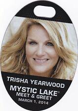 Trisha Yearwood Concert Backstage Pass All Access  or Meet & Greet Laminate