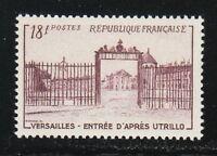 France 1952 MNH Mi 957 Sc 686 Versailles.Violet brown **