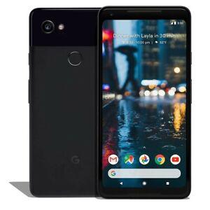 "Google Pixel 2 XL (64GB, 4GB) 6.0"" (GSM, Verizon, Global) 4G LTE Unlocked-Black"