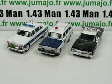 Lot 3 X 1/43 Police Du MONDE USA IST Wagoner, Bel air, Checker PM1 24 28 34