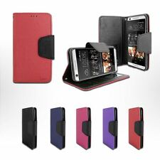 For HTC Desire 626/ 626S/ A22 Leather Wallet Flip Case Cover w Card Holder+Stand