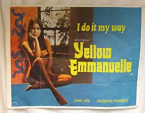 Chai Lee Yellow Emmanuelle film poster censored version erotic cinema gift
