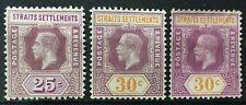 Malaya 1914 Straits Settlements KGV 25c & 30c shades Mint MCCA SG#205&207 M2400