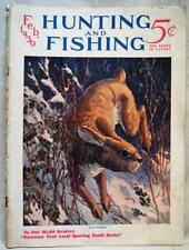 HUNTING AND FISHING MAGAZINE FEBRUARY 193 VINTAGE - RABBIT COVER - OUTDOORS