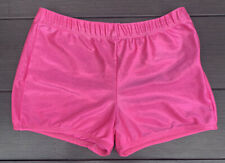Pizzazz Performace Wear Sparkly Pink Spandex Shorts Size Adult Small