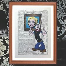 Popeye Vs Andy Warhol  dictionary page quote art print - gift  print