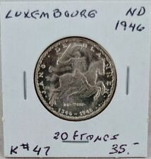 1946 Luxembourg 20 Francs
