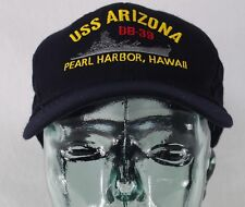 USS Arizona BB-39 Pearl Harbor, Hawaii Adjustable Hat Cap