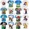 Funny 3D Print Super Mario Casual T-Shirt Fashion Men Women Short Sleeve Tops