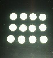 50 white flock iron on transfers/hotfix 1cm circles,spots,snowballs