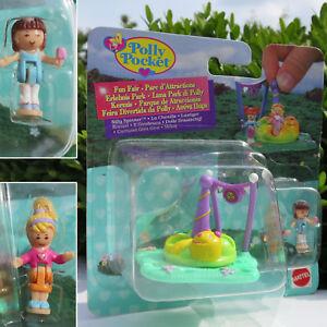 NEW Mini Polly Pocket Karussell Dumme Spinner NEU OVP  Bluebird 2 Püppchen