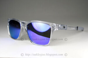 Oakley Catalyst Sunglasses OO9272-05 Polished Clear Frame W/ Violet Iridium Lens