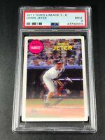 DEREK JETER 2011 TOPPS LINEAGE 3-D INSERT CARD PSA 9 NEW YORK YANKEES MLB HOF