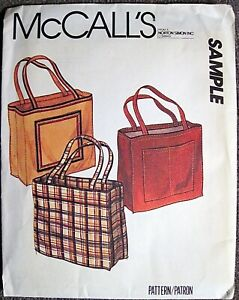 Vintage UNCUT McCall's Tote Bag Pattern from Norton Simon Inc.