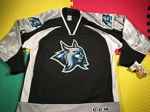 Vintage Augusta Lynx CCM ECHL Black Hockey Jersey Men's Size XL New with Tags