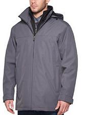 Weatherproof Ultra Tech Men's Jacket, Double Zip Hooded Water Repellant Coat,XXL