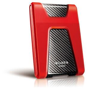 1TB AData Red/Black HD650 DashDrive USB3.1 Portable Hard Drive