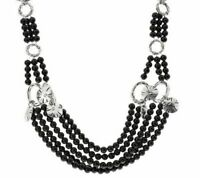 QVC Luxe Rachel Zoe 14K White Gold Over Multi Strand Bead Charm Necklace $115