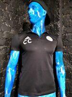 Leicester City Jersey Adidas Football Polo CF3698 Black Shirt Mens Size S