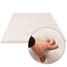 """3'' Queen Size Memory Foam Bamboo Cover Mattress Pad Bed Topper 60""""x80"""" New"""