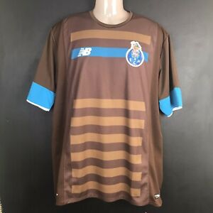 FC PORTO New Balance Away Shirt 2015/16 Men's Brown Jersey XL