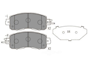 Disc Brake Pad Set-Premium Ceramic Pads Front Dash 4 Brake CFD1650