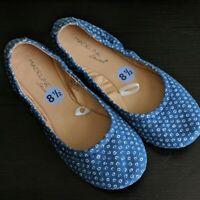 Madeline Stuart Kerrie Flats Shoes Blue White Fabric Size 8.5