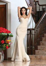 MAID OF HONOR STRAPLESS GOWN SPECIAL OCCASION PROM FORMAL EVENING DESIGNER DRESS