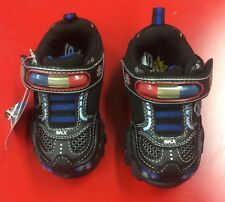 Skechers Hot Lights Boys Flashing Light Up Trainers Infants Leather Shoes BNIB
