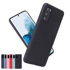 For Samsung S20+/S21/FE S10 Note10 Lite Matte Slim Soft Silicone Back Case Cover