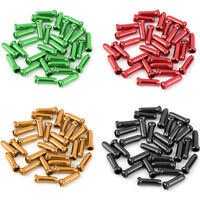 50pcs Bike Bicycle Brake Shifter Derailleur Inner Cable Tips Wire End Cap Crimps
