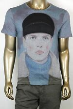 "New Gucci Blue ""Kris Knight"" Graphic Crew Neck T-Shirt 3XL 374443 4027"