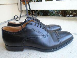 Church's Custom Grade Black Cap Toe Oxford Leather Men's Shoes Size 9.5D