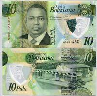 Botswana 10 Pula 2020 / 2021 P New POLYMER UNC