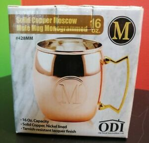 "Old Dutch International 16-Oz. Monogrammed Solid Copper Moscow Mule Mug, ""M"""