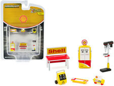 """""""Shell Oil"""" 6 piece Shop Tools Set """"Shop Tool Accessories"""" Series 3 1/64 by Gree"""