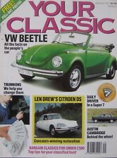 Your Classic magazine 09/1991 featuring Volkswagen Beetle fact file, Citroen