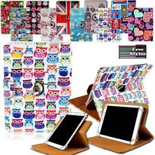 For Various Tablet - Universal Folio Rotating Stand Wallet Leather Cover Case