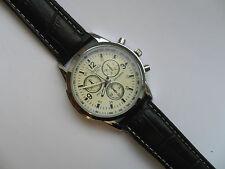Smart White and Silver Faced Quartz Watch Black Strap