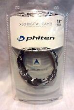 """Phiten X30 Digital Camo 18"""" Titanium Necklace - DK4I"""