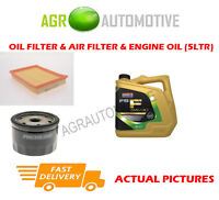 PETROL OIL AIR FILTER KIT + FS F 5W30 OIL FOR FORD FUSION 1.4 80 BHP 2002-12