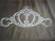 2 Cast Iron Plaque white Door Topper Ornate Victorian Scrolls Cottage chic