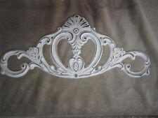 2 Cast Iron Plaque white Door Topper Ornate Victorian Scrolls Cottage chic