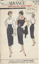 "1950s Vintage Sewing Pattern B32"" DRESS & BOLERO (R376) By 'Edith Head'"