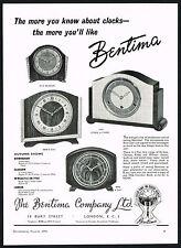 1950s Original Vintage 1956 Bentima Clock Photo Print Ad