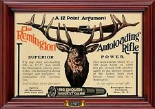 MAGNET Firearms Photo Magnet Advertisement REMINGTON Autoloading Rifle Ad 1907