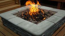 BRIGHTSTAR, LPG Bottled Gas Fire Pit Burner Only. Square, 18kw Patio Heater UK